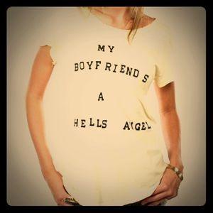 Wildfox My Boyfriend s a Hells Angel Grunge Tee